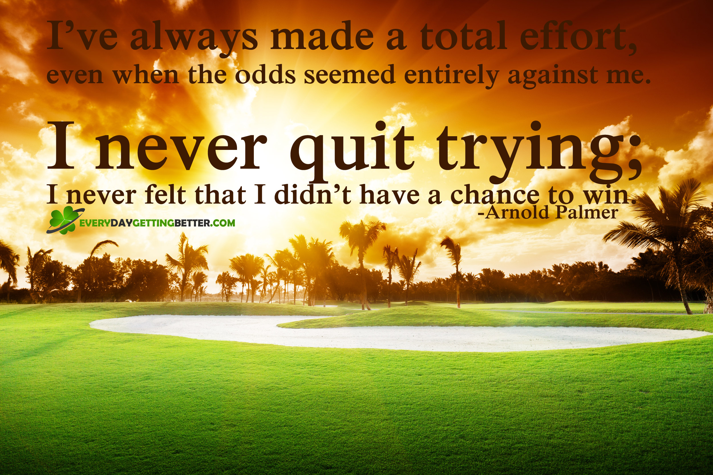 Arnold Palmer Quotes Total Effort  Every Day Getting Better