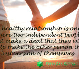 A healthy relationship…