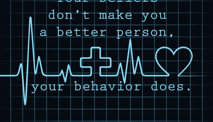 beliefs vs. behavior